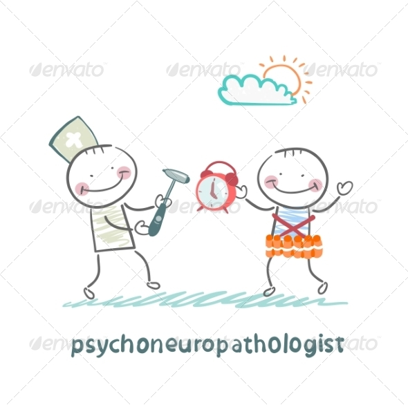 Psychoneuropathologist Stands Next to a Man - People Characters
