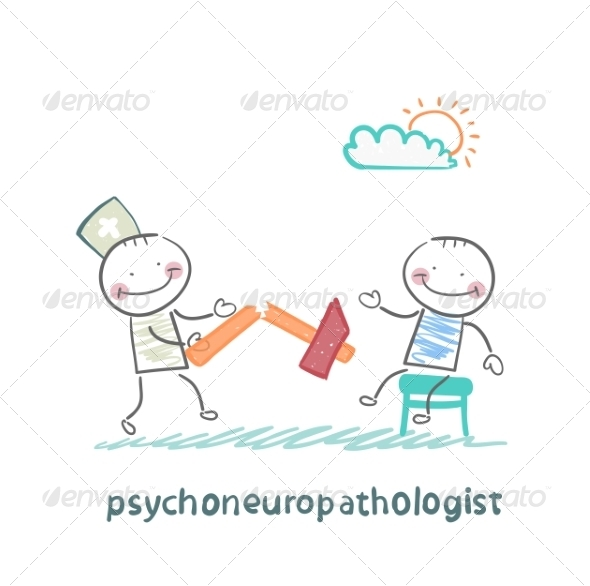 Psychoneuropathologist with a Broken Hammer - People Characters