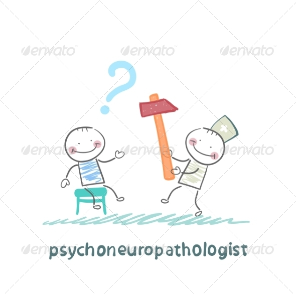 Psychoneuropathologist Check the Patient's Nerves - People Characters