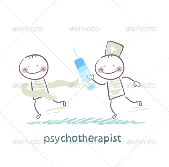 Psychotherapist with a Syringe - People Characters