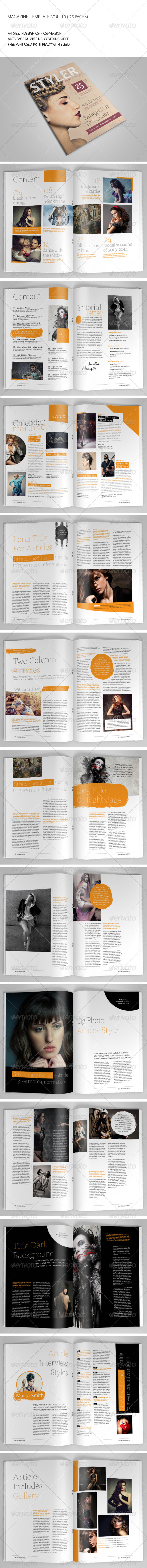 25 Pages Magazine Template Vol10 - Magazines Print Templates