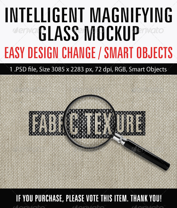 Intelligent Magnifying Glass Mockup - Product Mock-Ups Graphics