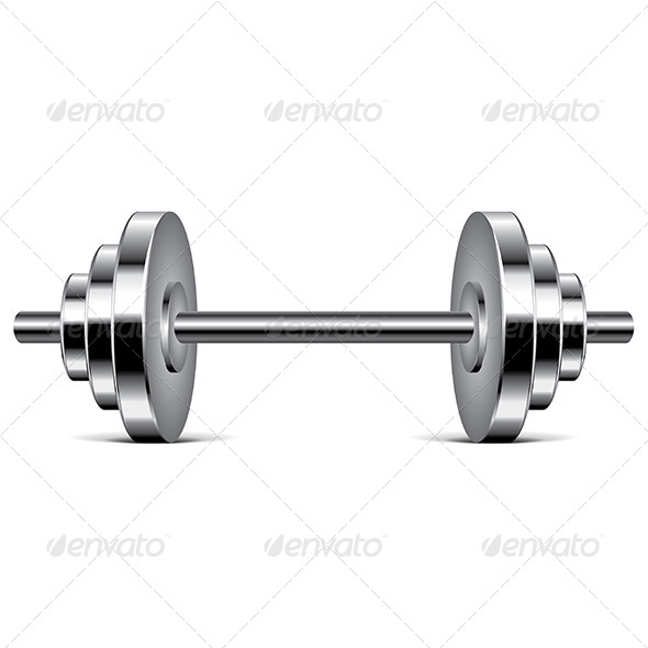 Metal Dumbbell - Sports/Activity Conceptual