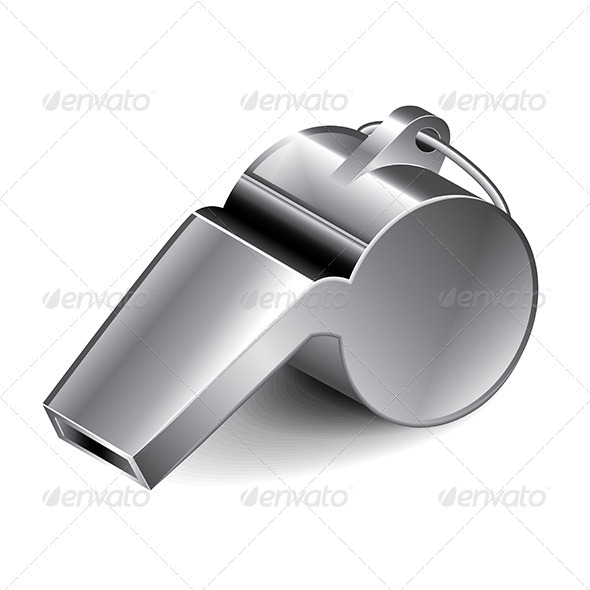 Metal Whistle - Sports/Activity Conceptual