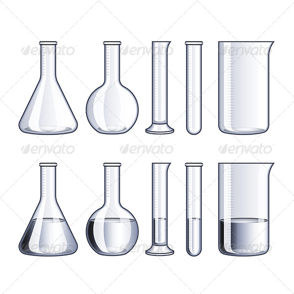 Glass Flasks and Test-Tubes - Man-made Objects Objects