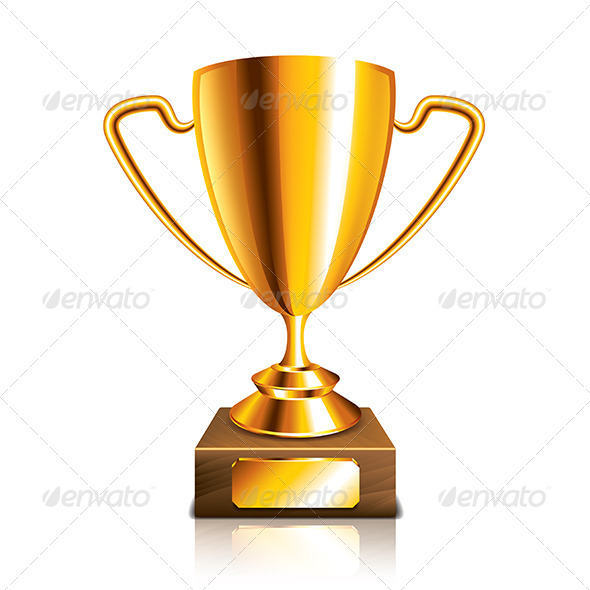 Golden Trophy - Decorative Symbols Decorative