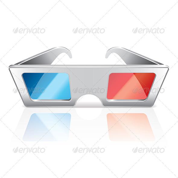 3D Glasses - Miscellaneous Vectors