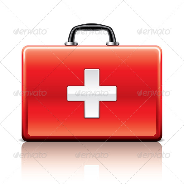 First Aid Kit - Health/Medicine Conceptual