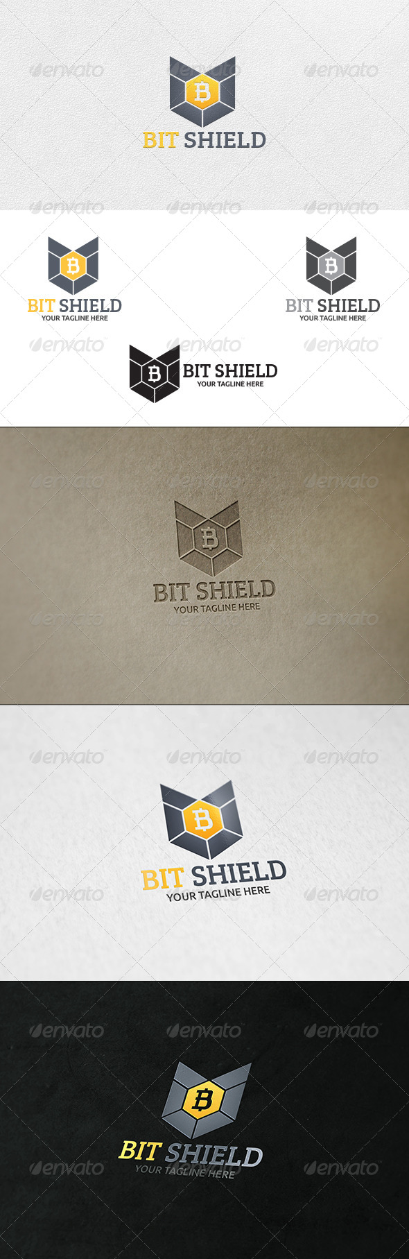 Bit Shield - Logo Template - Symbols Logo Templates