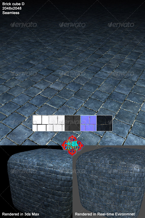 Square brick Texture 04 - 3DOcean Item for Sale
