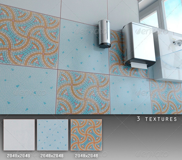 Professional Ceramic Tile Collection C082 - 3DOcean Item for Sale