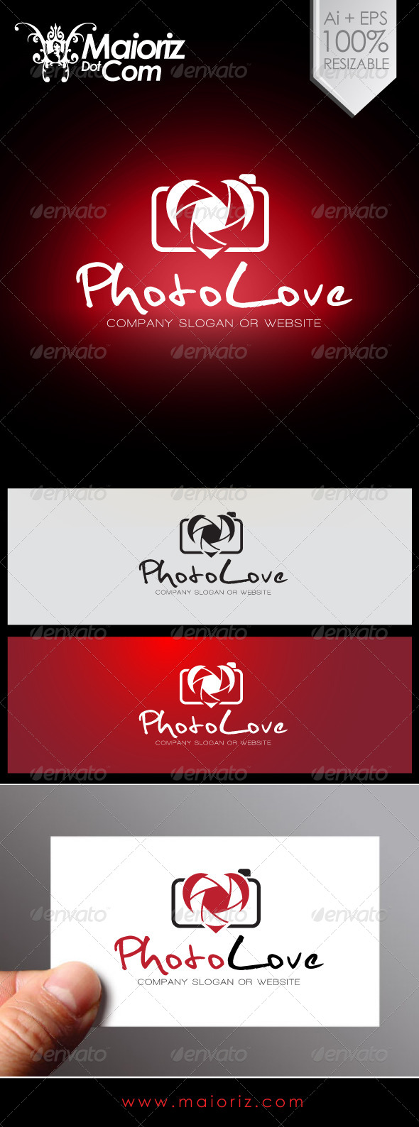 Photo Love Logo - Objects Logo Templates