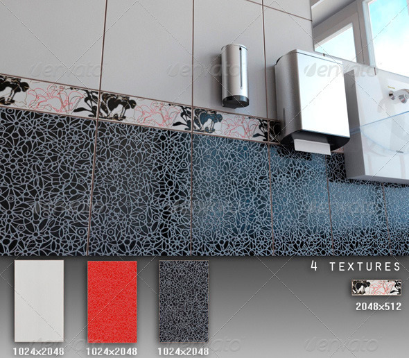 Professional Ceramic Tile Collection C083 - 3DOcean Item for Sale