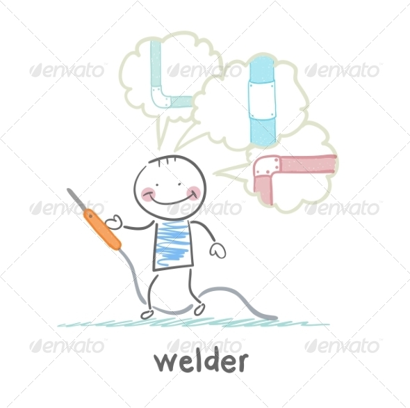 Welder Welding Machine - People Characters