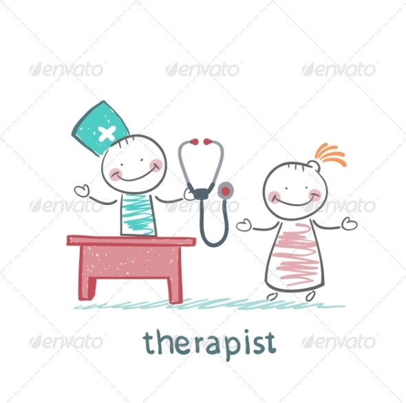 Therapist at Work Talking to a Patient - People Characters