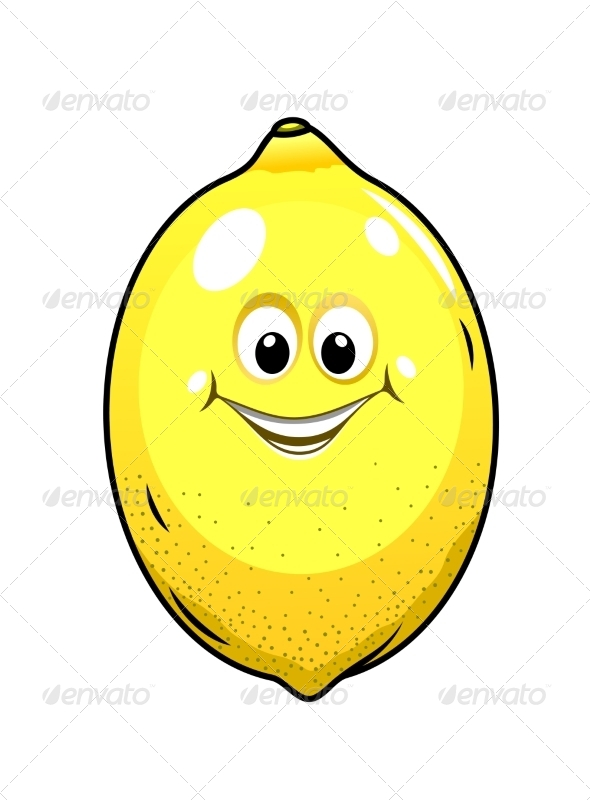 Little Lemon with a Happy Grin - Food Objects