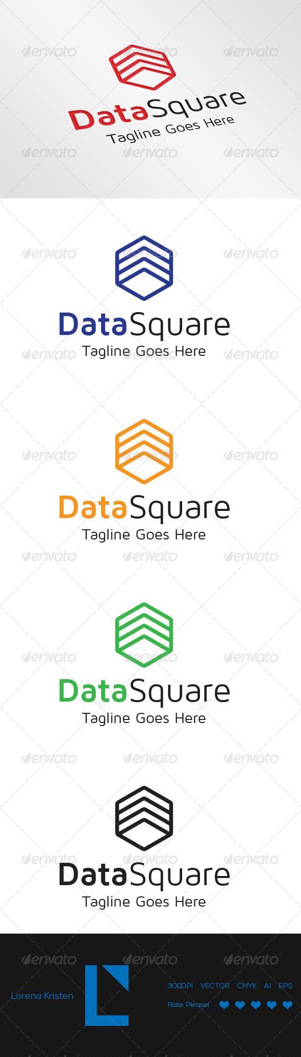 Data Square - Logo Templates
