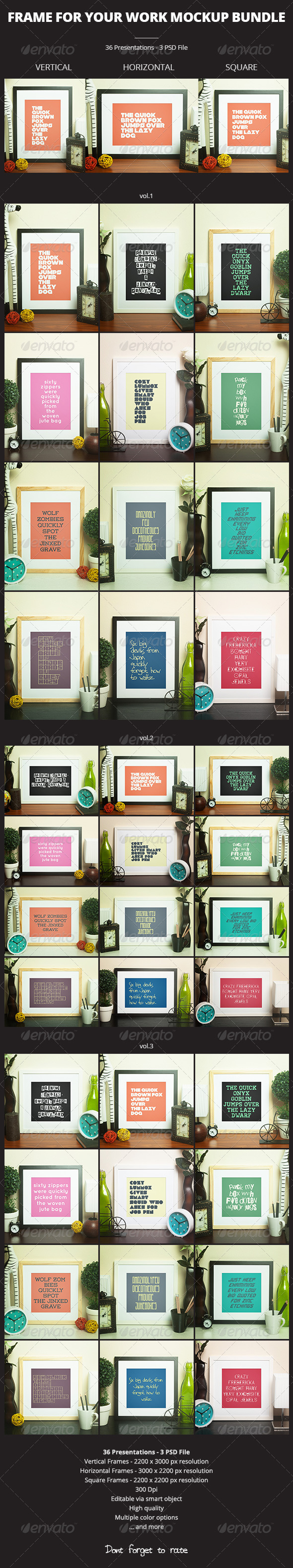 Frame For Your Work Mockup Bundle - Print Product Mock-Ups
