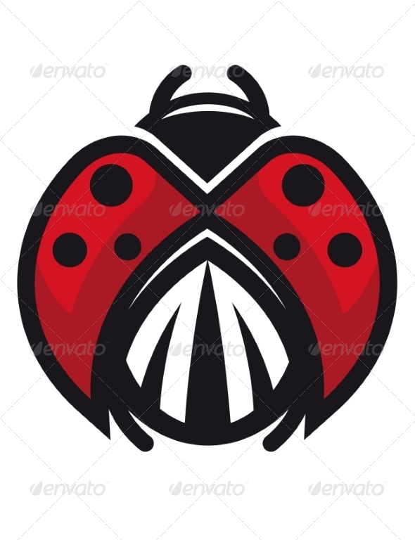 Red and Black Ladybug or Ladybird - Animals Characters