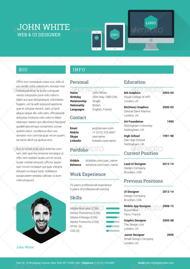 creative resume cv resumes stationery creative_resume_preview01_creative_resume_previewjpg - Creative Resumes