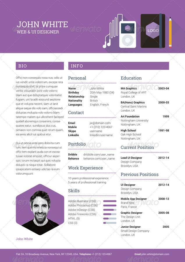 Creative Resume CV By Ikonome
