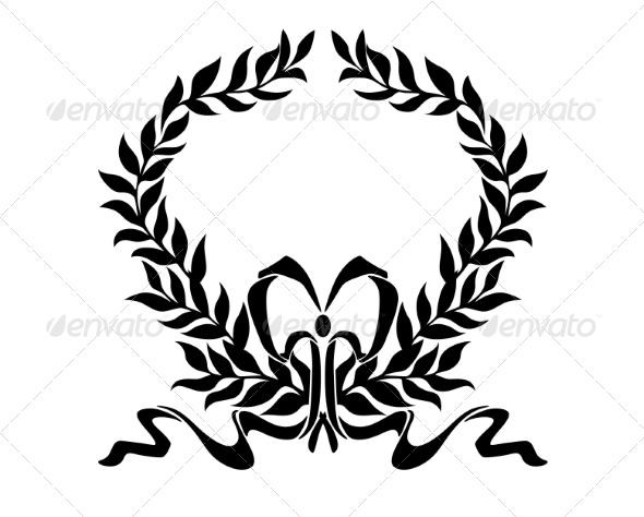Foliate Wreath with Decorative Bow - Borders Decorative