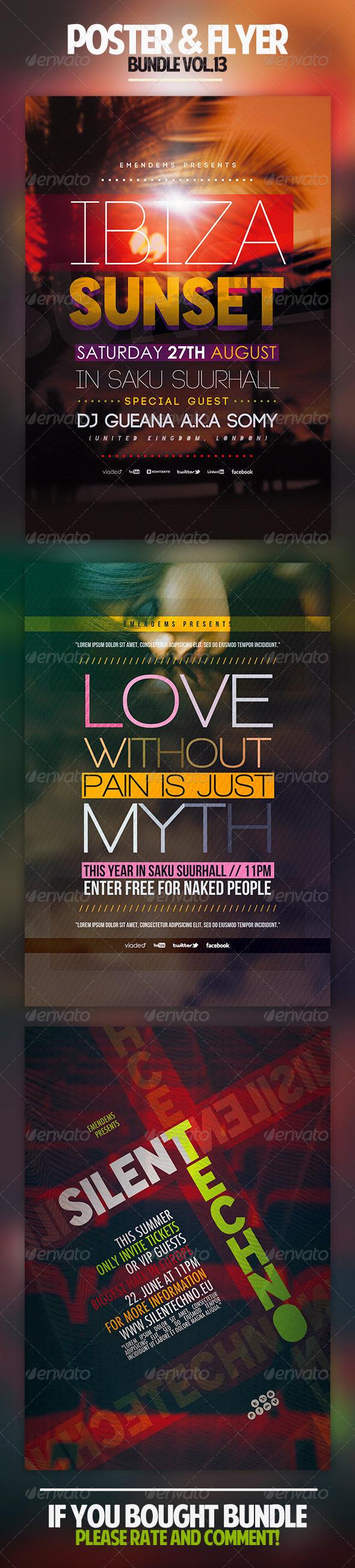 Poster & Flyer Bundle Vol.13 - Clubs & Parties Events