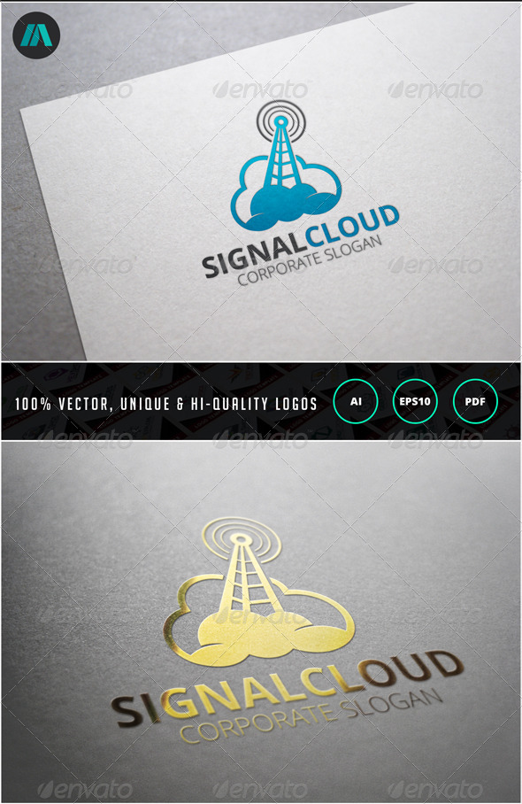 Signal Cloud Logo Template - Objects Logo Templates