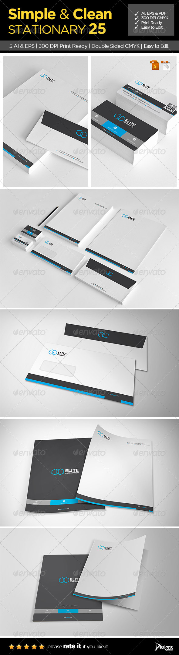 Simple and Clean Stationary 25 - Stationery Print Templates