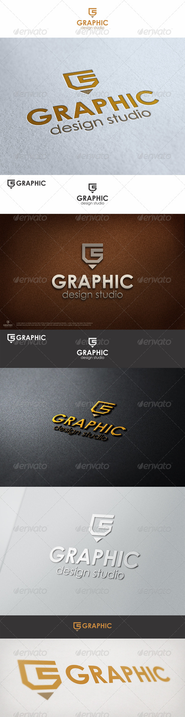 Graphic Pencil Studio Logo G - Vector Abstract