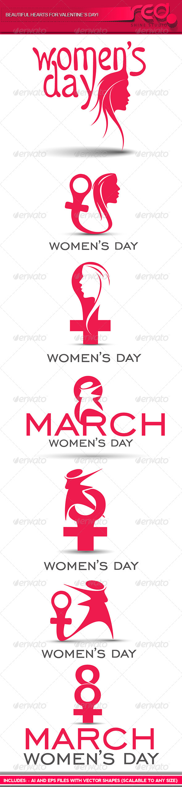 Woman's Day Icon - Decorative Symbols Decorative