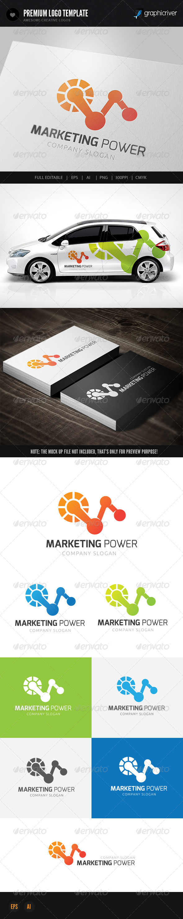 Marketing Power - Symbols Logo Templates