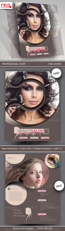 Beauty Salon Promotion Flyer Template - Commerce Flyers