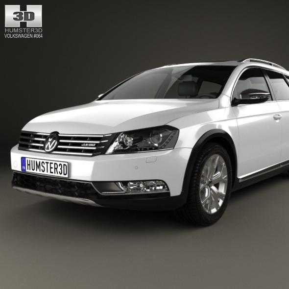 volkswagen passat b7 alltrack 2011 by humster3d 3docean. Black Bedroom Furniture Sets. Home Design Ideas