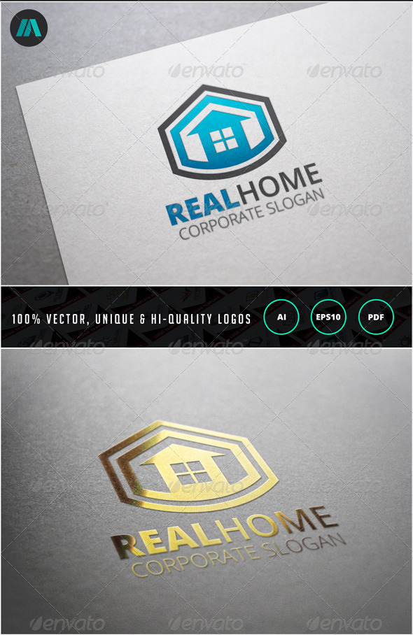 Real Home Logo Template - Buildings Logo Templates