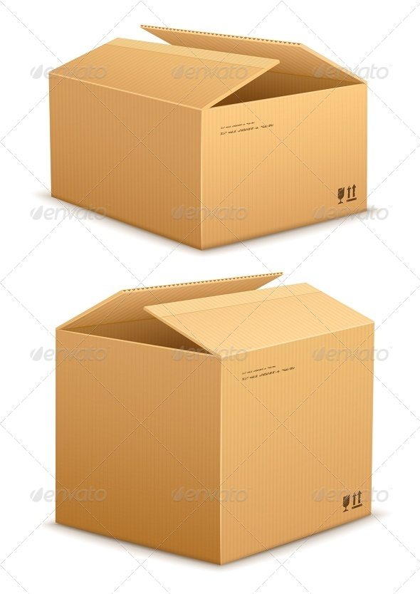 Cardboard Box for Packing - Man-made Objects Objects
