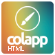 colapp - one page HTML template