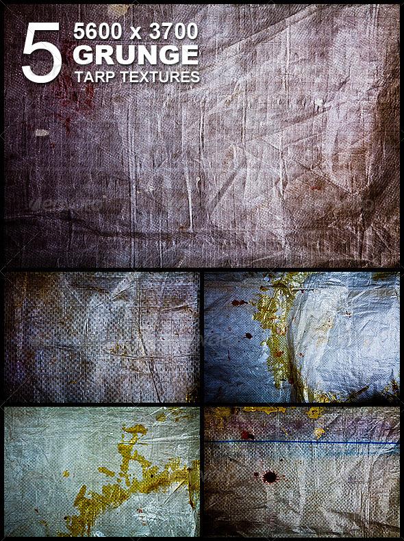5 Grunge Tarp Hi-Res Textures - Industrial / Grunge Textures