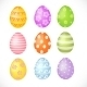 Set of Colored Easter Eggs - GraphicRiver Item for Sale