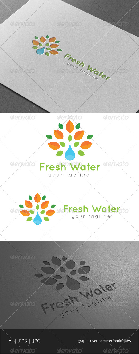 Fresh Water Logo - Nature Logo Templates
