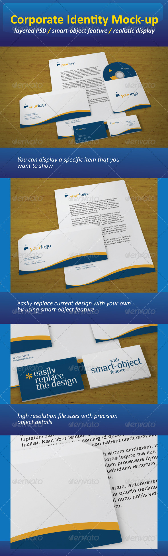 Realistic Corporate Identity Mock-Up - Stationery Print