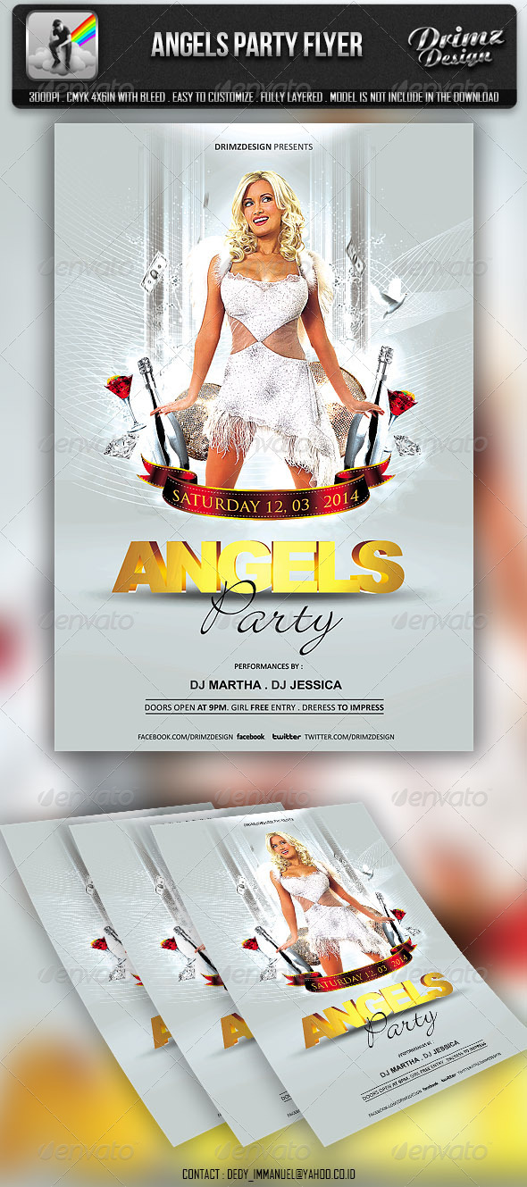 Angels Party Flyer - Events Flyers