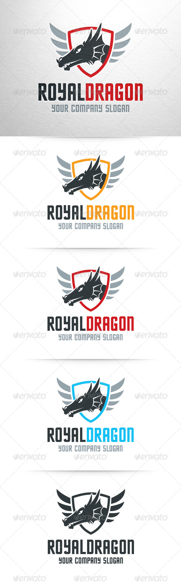 Royal Dragon Logo Template - Abstract Logo Templates