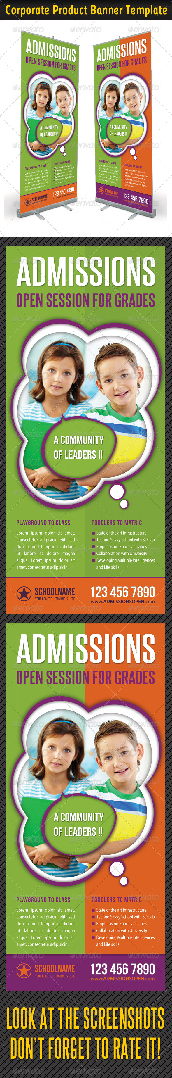 Junior School Promotion Banner Template 02 - Signage Print Templates
