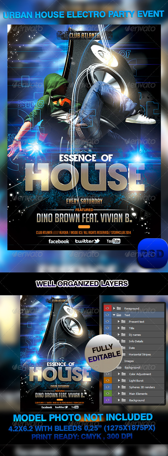 Urban House Electro Party Event - Events Flyers