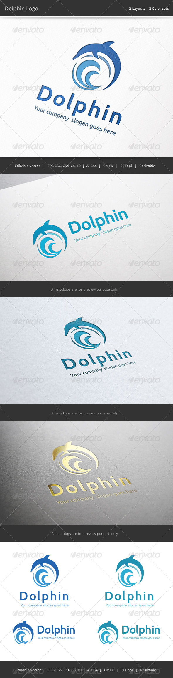 Dolphin Logo - Animals Logo Templates