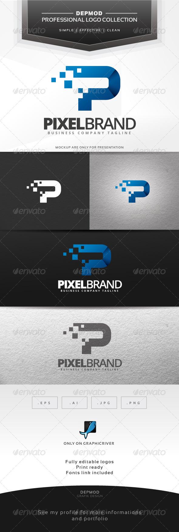 Pixel Brand Logo - Letters Logo Templates