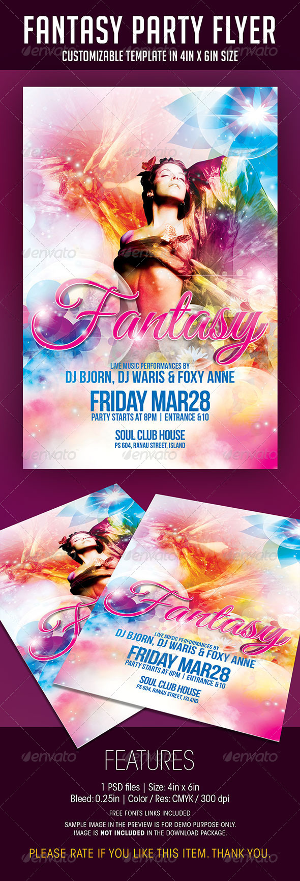 Fantasy Party Flyer - Clubs & Parties Events