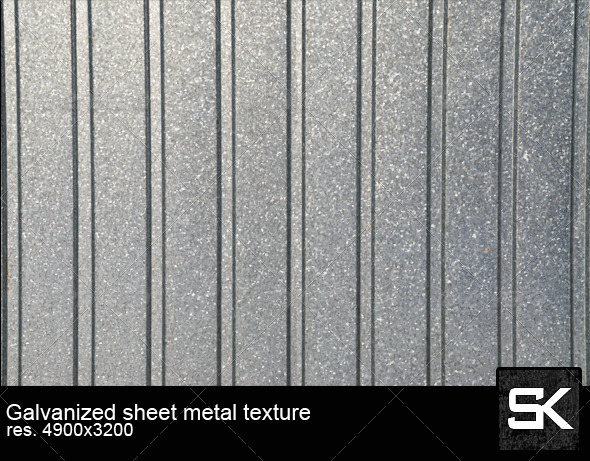 Galvanized Sheet Metal - Metal Textures
