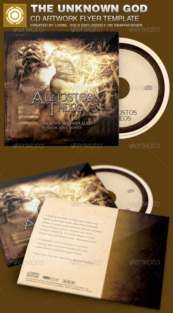 The Unknown God CD Artwork Template - CD & DVD Artwork Print Templates